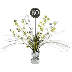 50th Birthday Sparkling Celebration Centrepiece