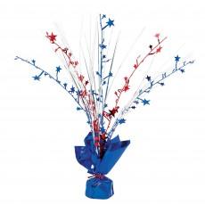 USA Patriotic Foil Spray Centrepiece