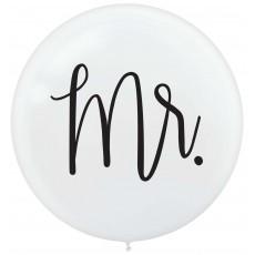 Wedding Mr. & Mrs. Latex Balloons 60cm Pack of 2