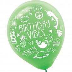 Selfie Celebration Latex Balloons