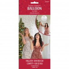 Christmas Let It Snow Confetti Latex Balloon