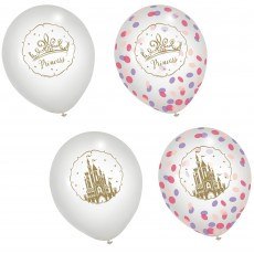 Disney Princess Once Upon A Time Confetti Filled Latex Balloons 30cm Pack of 6
