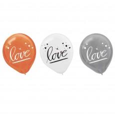 Bridal Shower Assorted Colours Navy Bride Latex Balloons