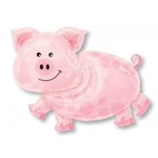 Pink SuperShape Pig Shaped Balloon