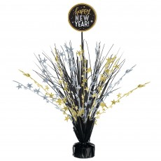 New Year Black, Silver & Gold Spray Centrepiece