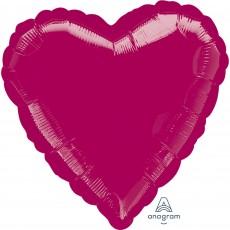 Heart Burgundy State of Origin Standard XL Shaped Balloon 45cm