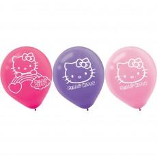 Teardrop Hello Kitty Rainbow Latex Balloons 30cm Pack of 6