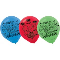 Teardrop PJ Masks Latex Balloons 30cm Pack of 6