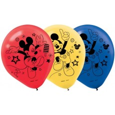 Mickey Mouse Assorted Colour On The Go Latex Balloons