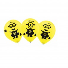Teardrop Minions Despicable Me 3 Latex Balloons 30cm Pack of 6
