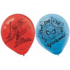 Teardrop Spider-Man Webbed Wonder Latex Balloons 30cm Pack of 6