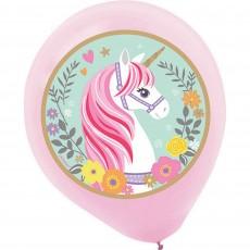 Teardrop Magical Unicorn Latex Balloons 30cm Pack of 5