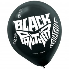 Black Panther Black  Latex Balloons