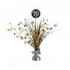 70th Birthday Sparkling Celebration Spray Centrepiece 45cm
