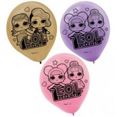 Teardrop LOL Surprise Latex Balloons 30cm Pack of 6