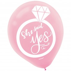 Assorted Colours Bridal Shower Mint To Be Latex Balloons 30cm Pack of 15