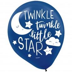 Teardrop Twinkle Little Star Latex Balloons 30cm Pack of 15