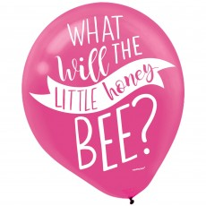 What will the little honey bee? Latex Balloons 30cm Pack of 15