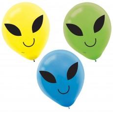 Teardrop Blast Off Printed Latex Balloons 30cm Pack of 15