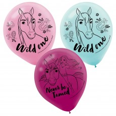 Spirit Riding Free Party Decorations - Latex Balloons Wild One