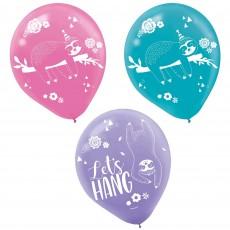 Sloth Latex Balloons