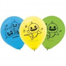 Baby Shark Party Decorations - Latex Balloons