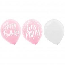 Blush Birthday Party Decorations - Latex Balloons