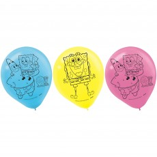 SpongeBob Party Decorations - Latex Balloons