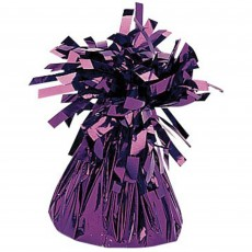 Purple Mylar Balloon Weight