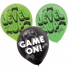 Level Up Gaming Party Decorations - Latex Balloons Game On!