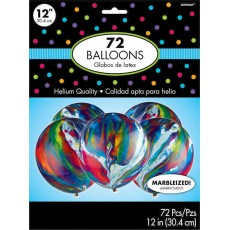 Multi Colour Marble Latex Balloons