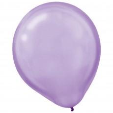 Lavender Party Decorations - Latex Balloons Pearl Lavender 30cm 15pk