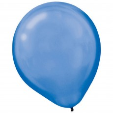 Blue Pearl Bright Royal  Latex Balloons