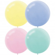Pastel Multi Coloured Latex Balloons 60cm Pack of 4