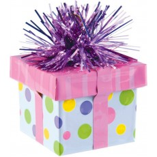 Pink Gift Box Balloon Weight