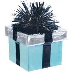 Teal Green Gift Box Balloon Weight 5.6cm x 4.5xm