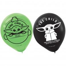 Star Wars Party Decorations - Latex Balloons The Mandalorian