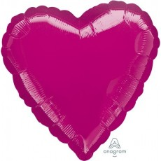 Magenta Metallic Fuchsia Standard HX Shaped Balloon