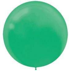 Festive Green Latex Balloons 60cm Pack of 4