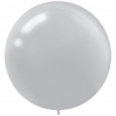 Silver Latex Balloons