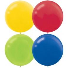 Multi Coloured Latex Balloons 60cm Pack of 4
