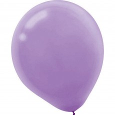 Lavender Party Decorations - Latex Balloons Lavender 12cm