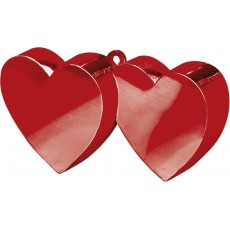 Red Double Heart Electroplated Balloon Weight