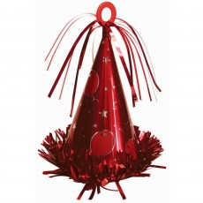 Red Party Hat Balloon Weight
