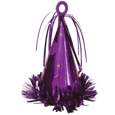 Purple Party Hat Balloon Weight