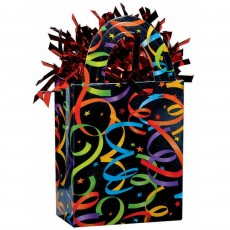 Multi Colour Streamers and Stars Tote Balloon Weight