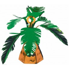 Hawaiian Party Decorations Embossed Foil Palm Tree Balloon Weights