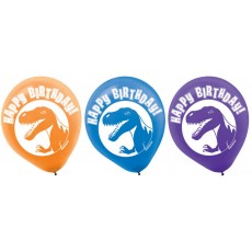 Dinosaur Purple, Blue & Orange Prehistoric s Latex Balloons