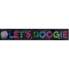Disco & 70's Disco Fever Foil Let's Boogie Banner 762cm