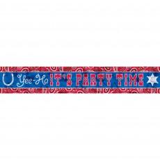 Bandana & Blue Jeans Foil Banner